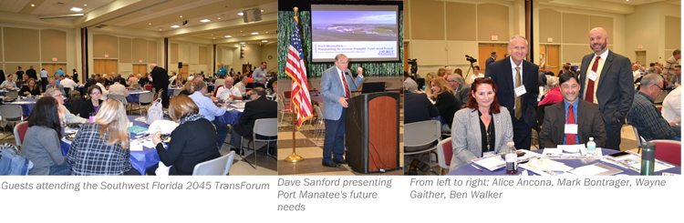 Guests and Five Futurists attending the Southwest Florida 2045 TransForum on January 28, 2019.