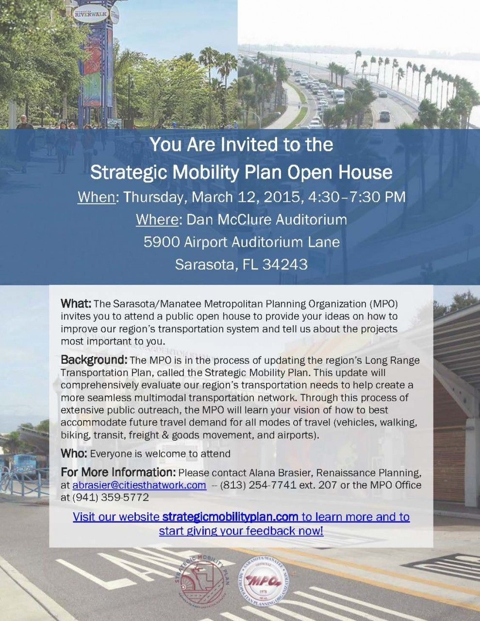 You are Invited to the Strategic Mobility Plan Open House!