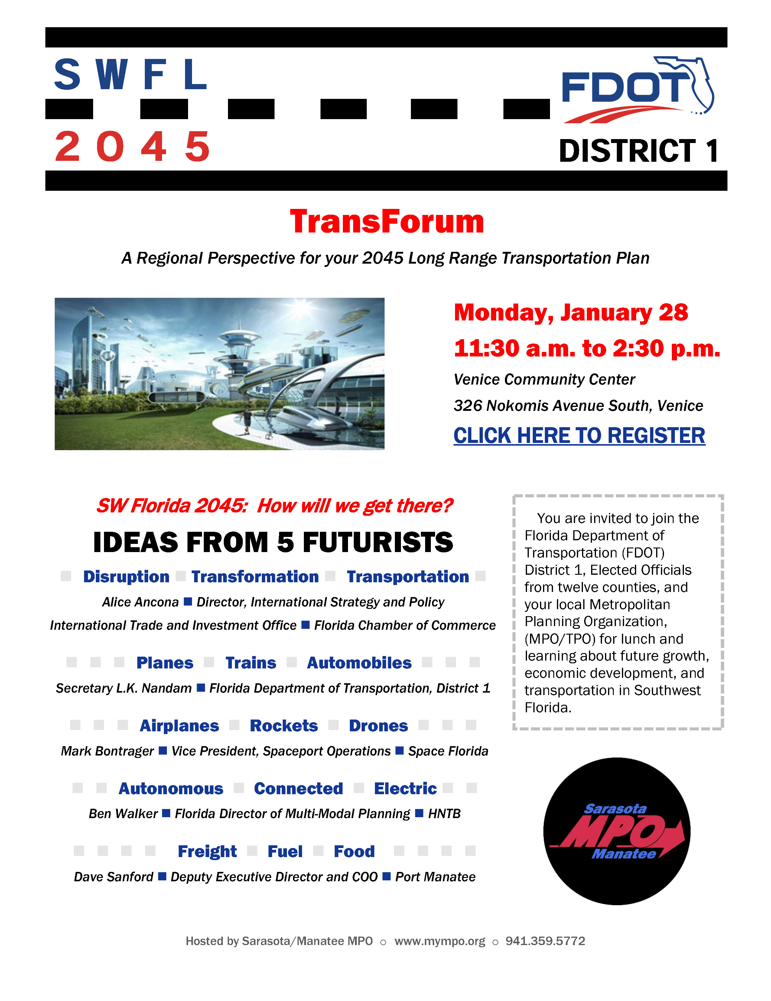 Southwest Florida 2045 District 1 TransForum